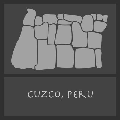 A design from the heritage sites of Cuzco.